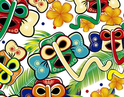 "Check out new work on my @Behance portfolio: ""Carnaval de Barranquilla ""prints"""" http://on.be.net/1LQqkFa"