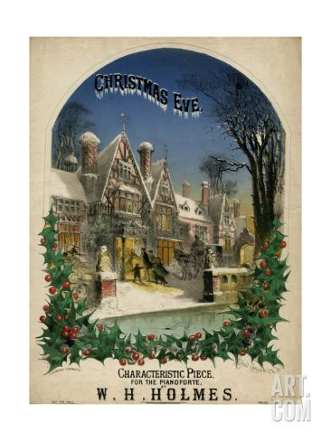 Christmas Eve Visiting Giclee Print by Alfred Concanen at Art.com
