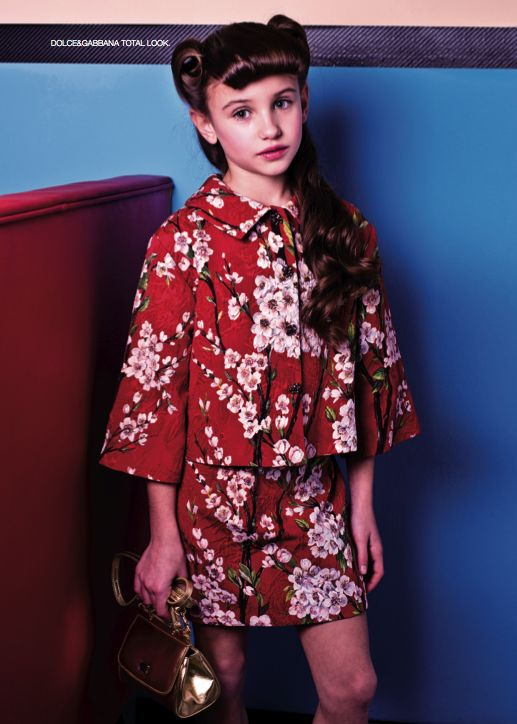 From our editorial - BACK TO FIFTIES!  Photos: Zhanna Romashka Stylist:Sabrina Mellace Stylist ass.: Filippo Scrivani Makeup and hair: Sara del Re @ freelancer Dolce&Gabbana total look. #fashion #style #look #girl #childrenswear #dolceegabbana @Dolce & Gabbana  #fifties
