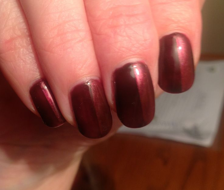 Nails Shellac, Fedora with a half layer of Hot Chillies