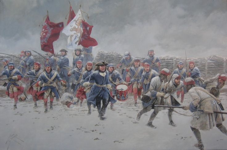 Charge of the Swedish infantry at the Battle of Helsingborg