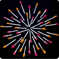 Fireworks Craft 4th of July kids activity with q tips