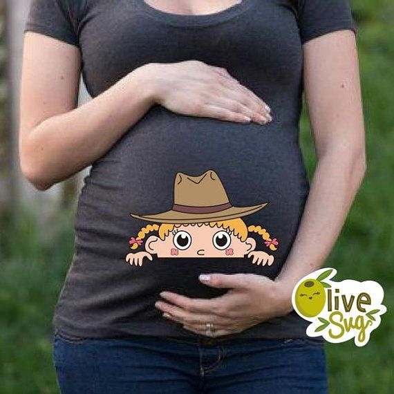 6fd7ce38d6002 Cowgirl baby svg, peeking baby svg, funny maternity t shirts ...