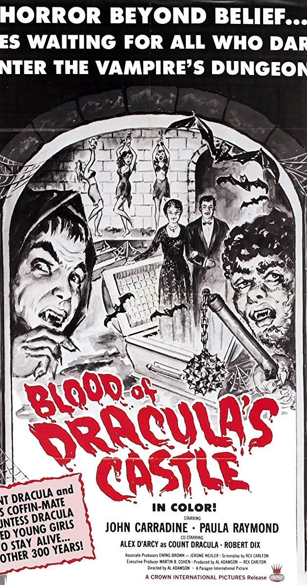 Directed by Al Adamson, Jean Hewitt. With John Carradine, Paula Raymond, Alexander D'Arcy, Robert Dix. Count Dracula and his wife capture beautiful young women and chain them in their dungeon, to be used when they need to satisfy their thirst for blood.