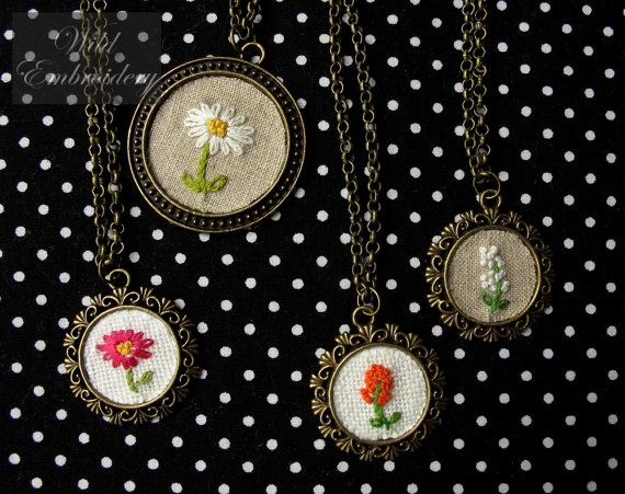 embroidered pendants *love*