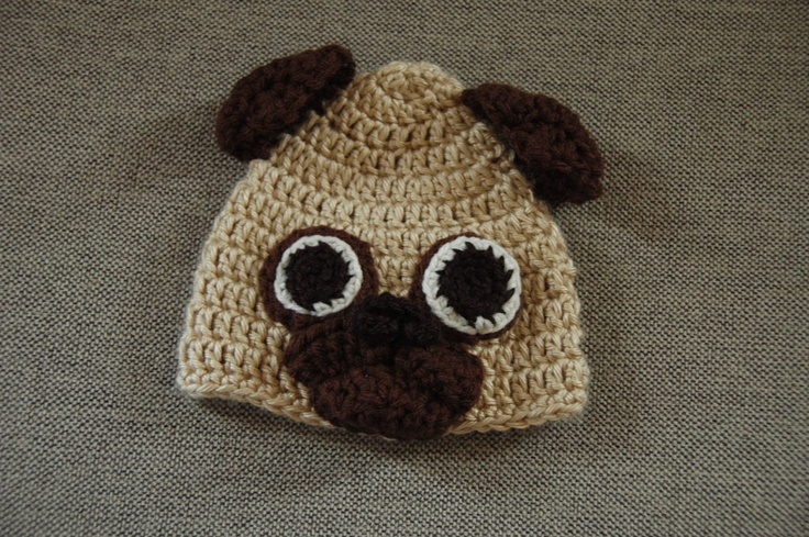 Knitting Pattern For Pug Hat : 59 best images about Crochet on Pinterest Coffee sleeve, Hello kitty croche...