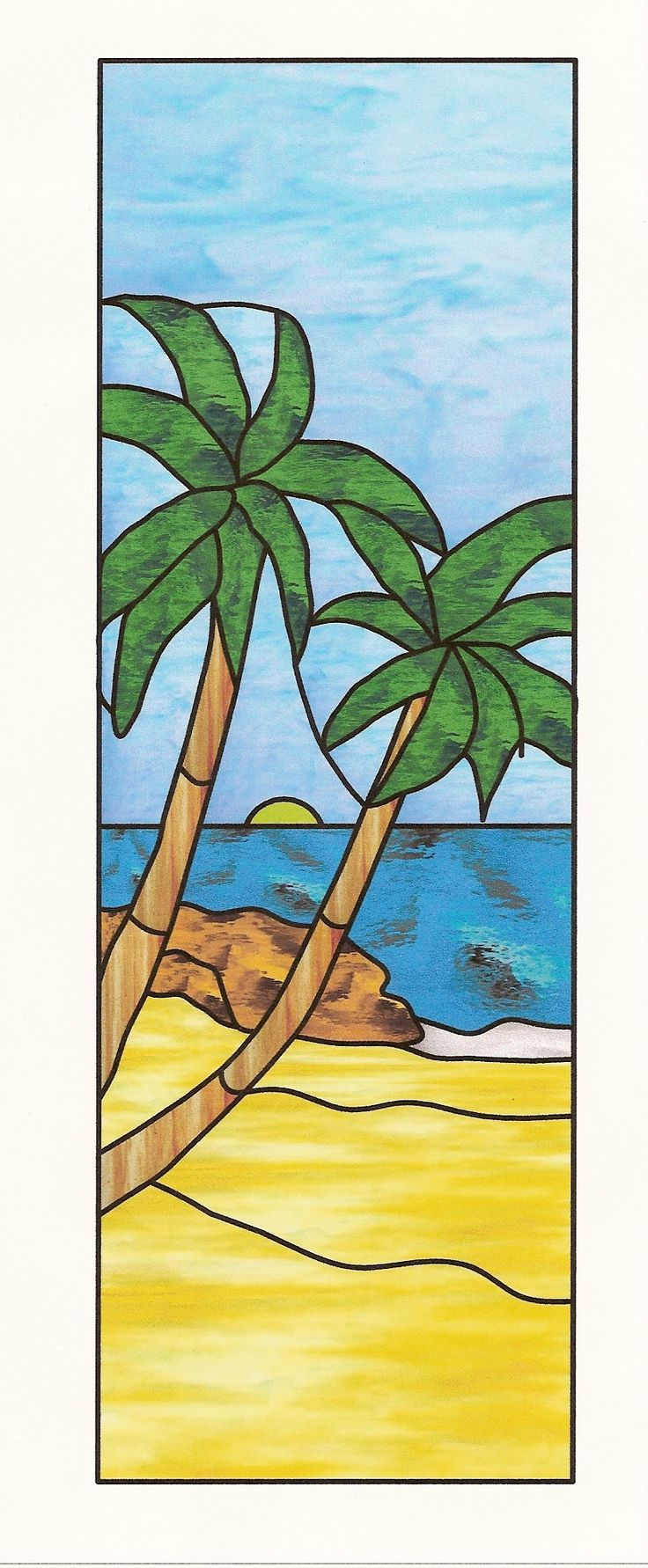 Easy Stained Glass Patterns   Free Scenic Patterns For Stained Glass