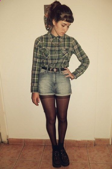 Shirt, High Waisted Short