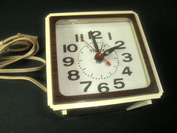 Vintage Timex Alarm Clock Faux Bois Wood Grain Sides  by VintThor, $8.75