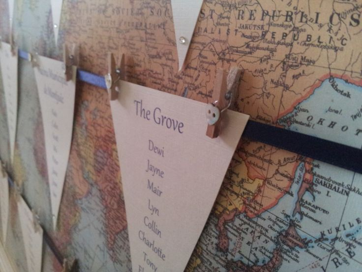 Travel inspired seating plan