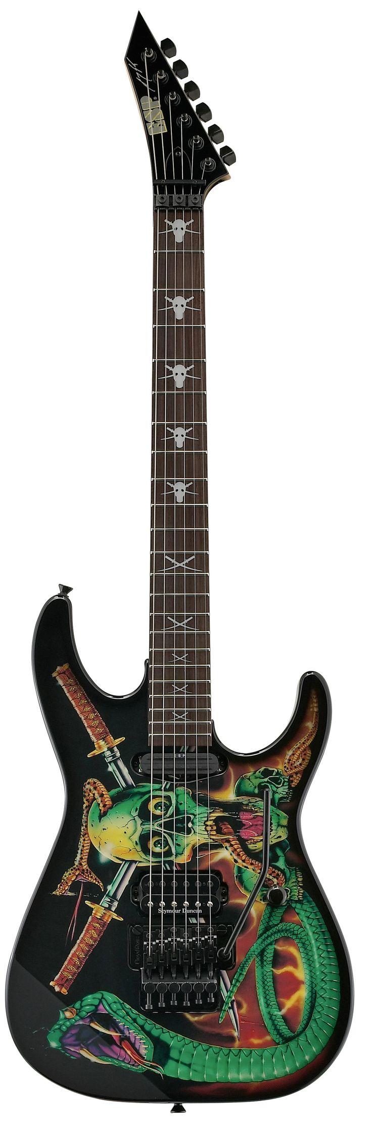 ESP SKULLS & SNAKES George Lynch Signature Series Electric Guitar - Skulls…