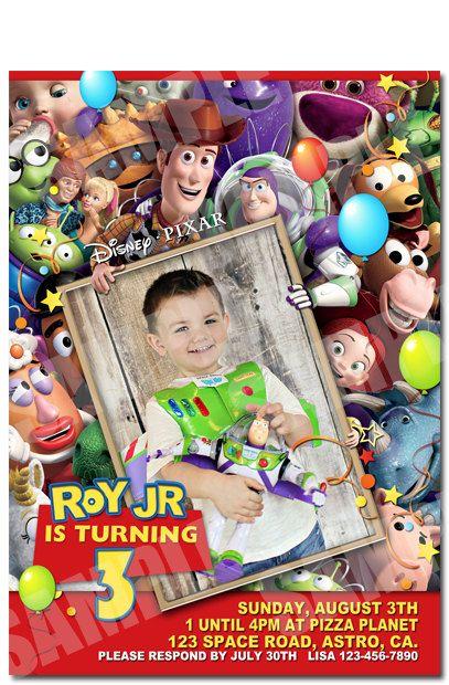 FULL PHOTO - Toy Story Invitation - Printable Toy Story Birthday Invitation on Etsy, $10.00