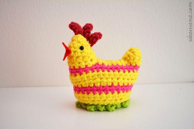 easter crochet chick egg cosy free pattern, haken, gratis patroon, eierwarmer, kip