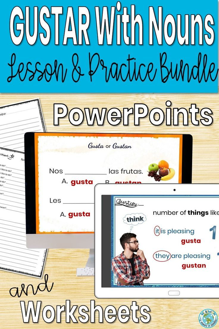 Spanish Gustar With Nouns Lesson And Practice Bundle Distance Learning In 2020 Nouns Lesson Nouns Powerpoint Lesson [ 1104 x 736 Pixel ]