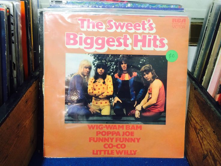 The Sweets, Biggest Hits vintage/retro vinyl/retro $10.   Our Facebook page https://www.facebook.com/Whatever-at-Willunga-118129198383581/timeline/