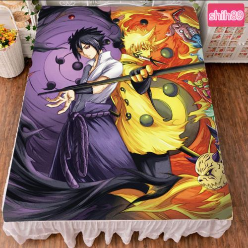 Anime-NARUTO-Uzumaki-Naruto-Uchiha-Sasuke-Bed-sheet-Plush-Throw-Blanket-Bedding