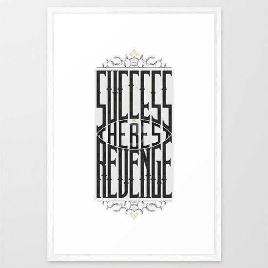 Success&Revenge #1 Framed Art Print