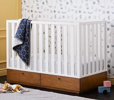 West Elm X Pbk Modern Convertible Storage Crib Crib Storage