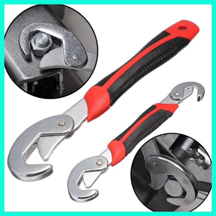 2pcs 9-32mm Wrench Set Multi-functional Quick Snap Grip Wrench Adjustable Socket Head Wrench Spanner Repair Tool For Nuts Bolts