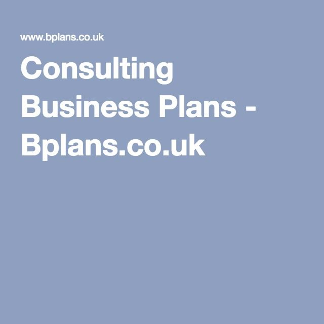 Consulting Business Plans  BplansCoUk  Entrepreneur