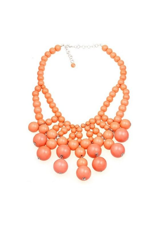 """""""Bubble Bib"""" Statement Necklace-     17 inch neck circumference!     2 inch extension chain included!     Available in other colours!! Limited Stock Shop Now!"""
