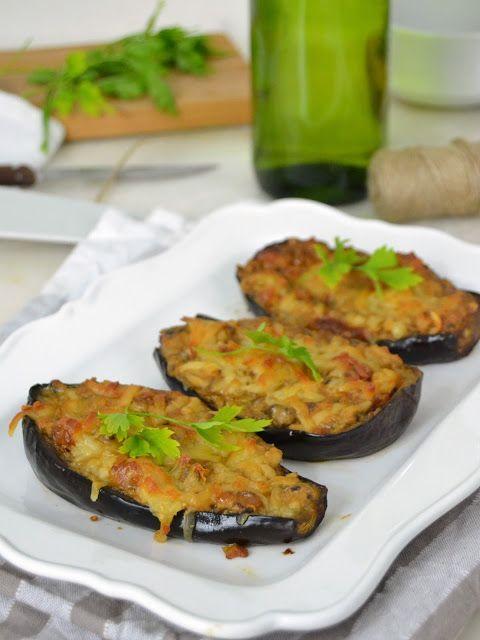 Berenjenas rellenas de gambas y champiñones | Cuuking! Recetas de cocina