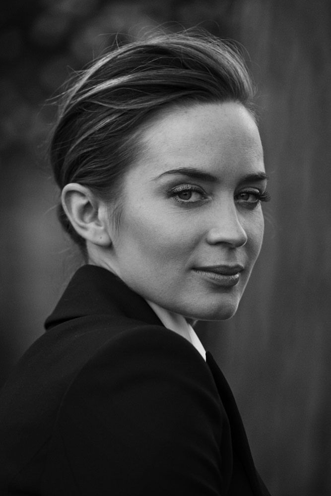 Emily Blunt, photographed by Peter Lindbergh for IWC Schaffhausen – A Sparkle to the Wrist – Portofino Midsize Collection, 2014. - Bronze Luxury