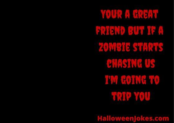 Zombie Chasing Us Humor #12