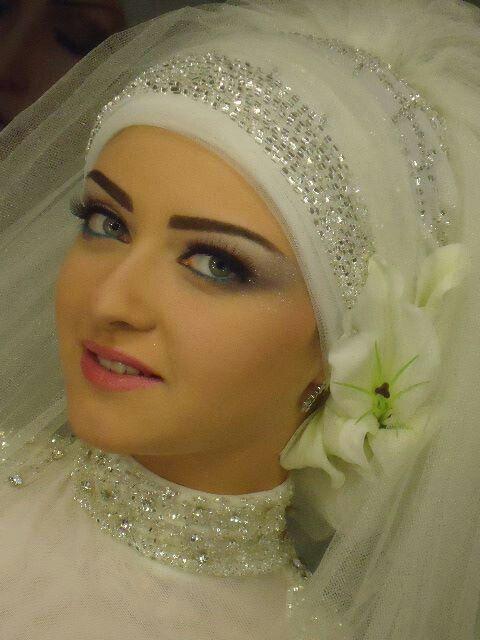 My wedding hijab style :-) Insha'allah
