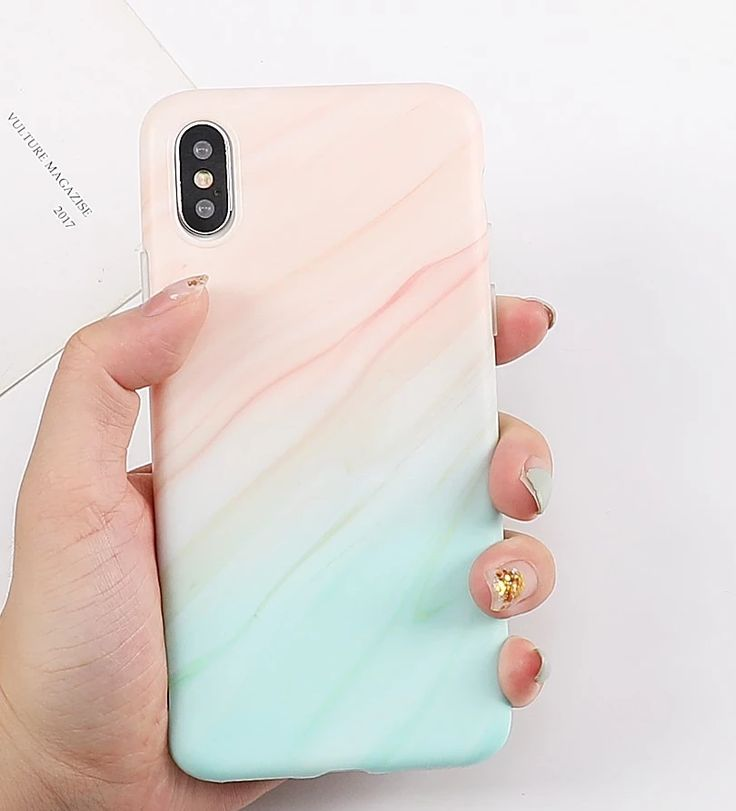 Gradient marble colored phone case for iphone xr xs max 6