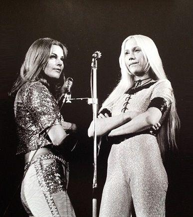 Frida and Agnetha Fältskog, ABBA.