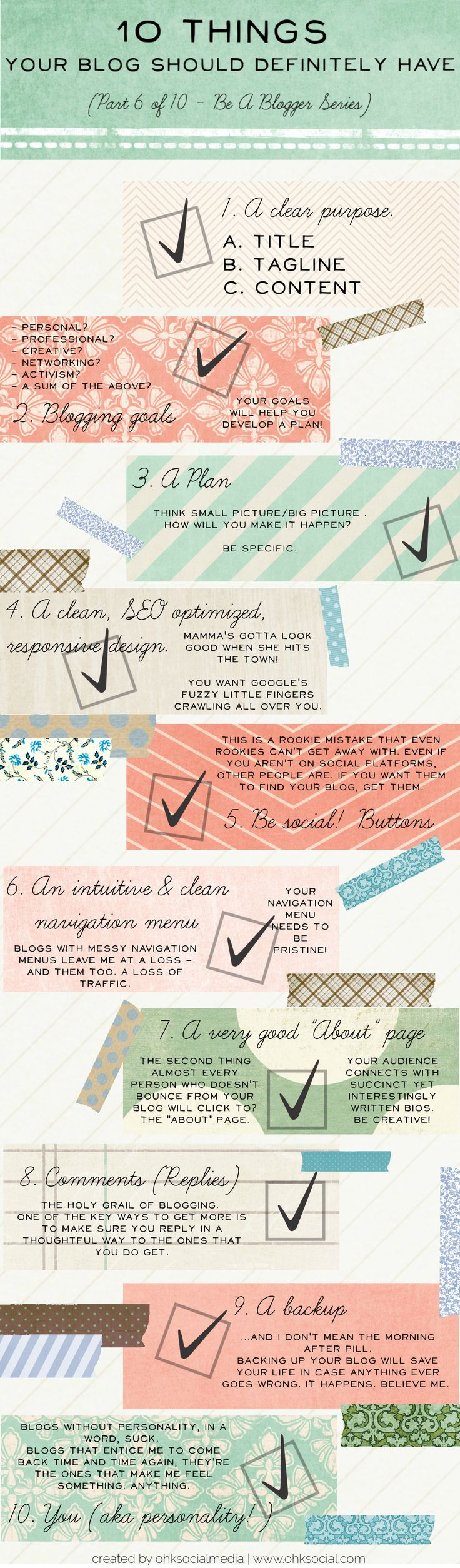 10 Things your blog should definitely have! how many of these do you have checked off?