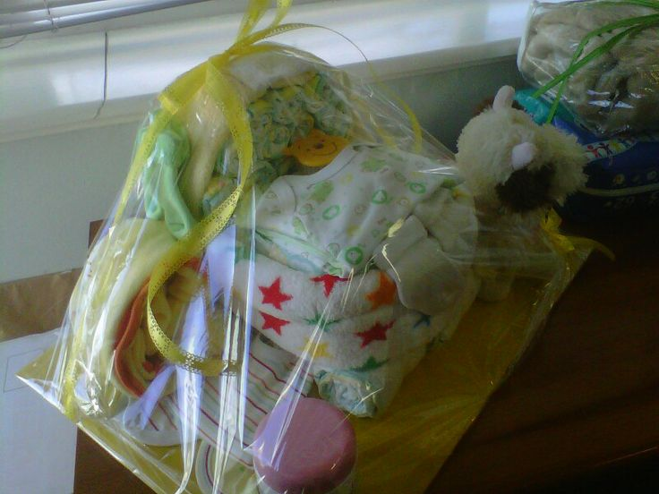 Gift idea 3: baby shower gift-diaper and clothing stroller