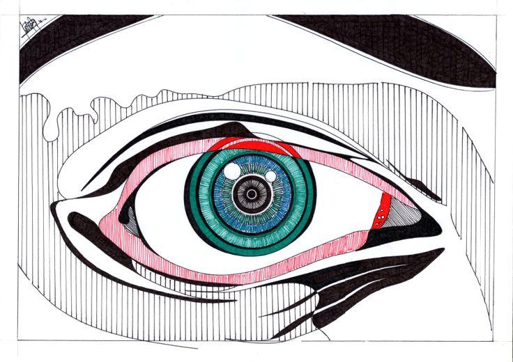 El Ojo que todo lo ve. Está realizada en papel y tinta. Dos elementos básicos del dibujo. Estos esbozos detallados, representan el estudio anterior a la ejecución de obras pictóricas, artísticas y arquitectónicas, según el caso.