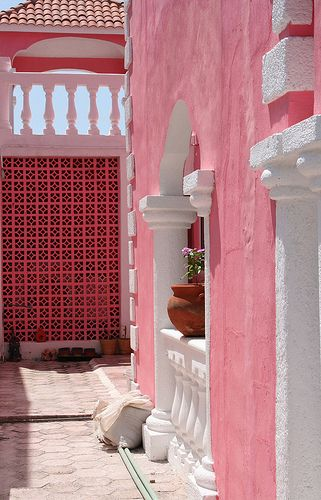 XO: Tulum Mexico, Pretty In Pink, Pink House, Beautiful Places, Pink Shades, Pink Wall, Color Pink, Photo, Port Morelo