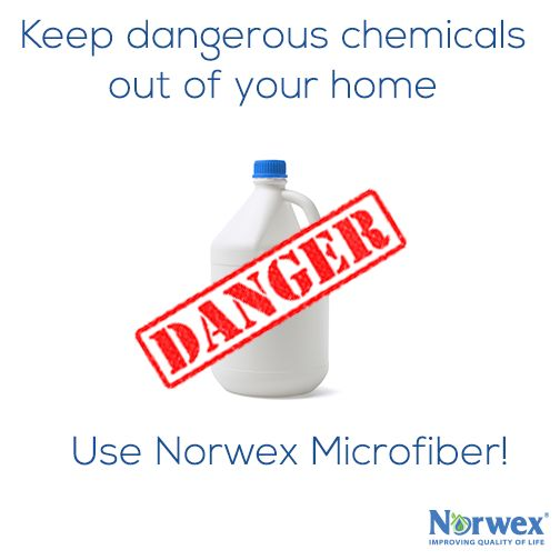 Did you know mixing bleach with common ingredients can produce lethal and potentially fatal fumes? Nose bleeds, neurological disorders, headaches, shortness of breath and chest pain, are just a small number of the potential side effects. Norwex Microfiber works with just water and helps keep you and your family safe from the potential dangers of chlorine bleach. Make cleaning simple and safe for everyone in your home. Visit my website today! http://www.lindsayfolkerts.norwex.biz