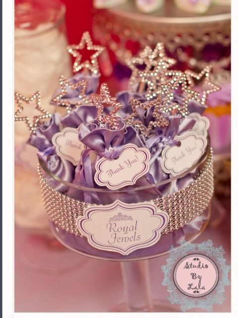 Pretty wands at a Sofia the First party! See more party ideas at CatchMyParty.com! #partyideas #princess