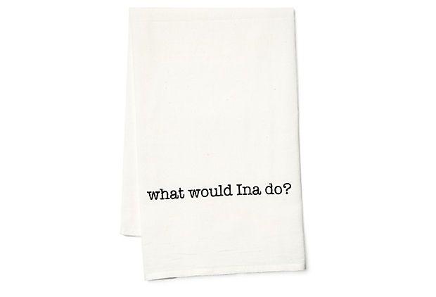 """What Would Ina Do"" tea towelMolly Simon, Teas Towels, Tea Towels, Onekingslane Com Molly"