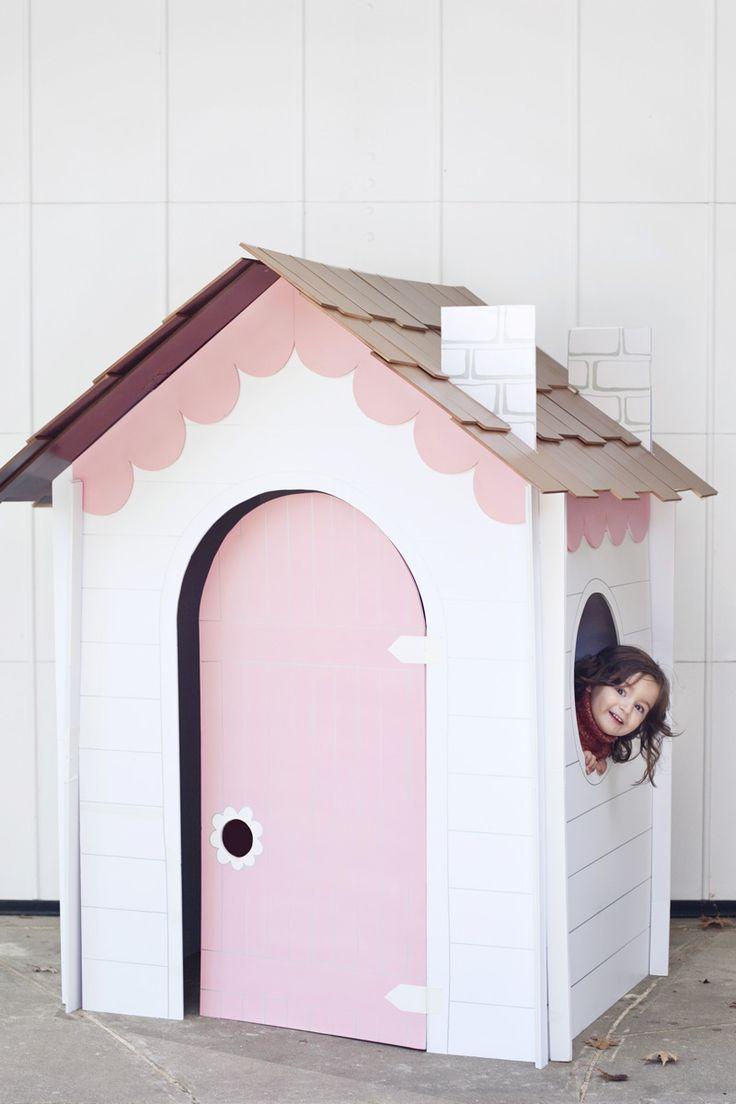 Machen Sie einen zusammenklappbaren Spielhaus aus Pappe, foamboard oder masonite