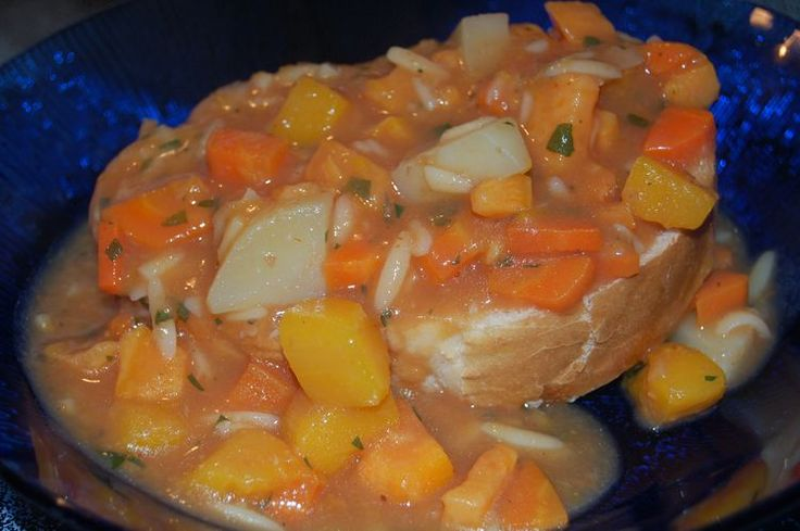 Here is a nice recipe for pumpkin soup as referenced in Azorean Cooking by Maria Lawton.