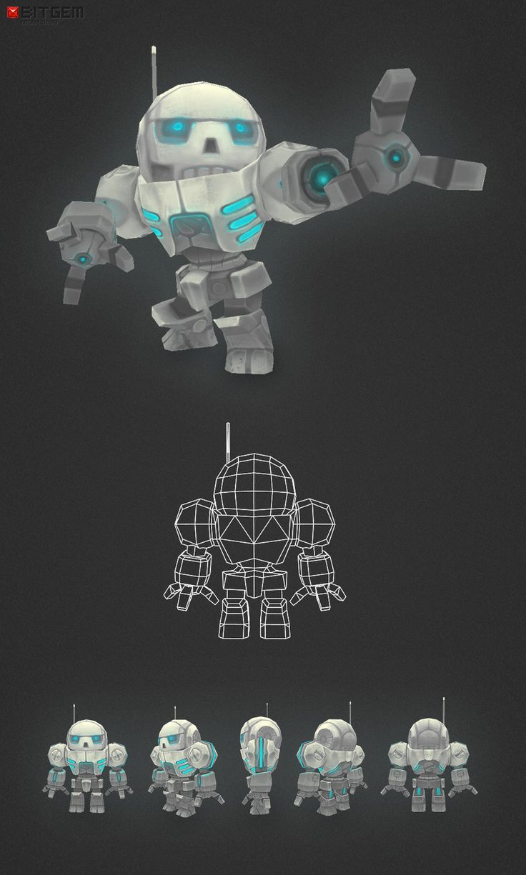 Low Poly Chibi Mech by bitgem.deviantart.com on @deviantART