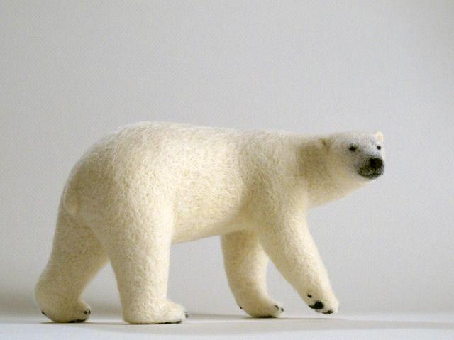 Polar bear - wool felting