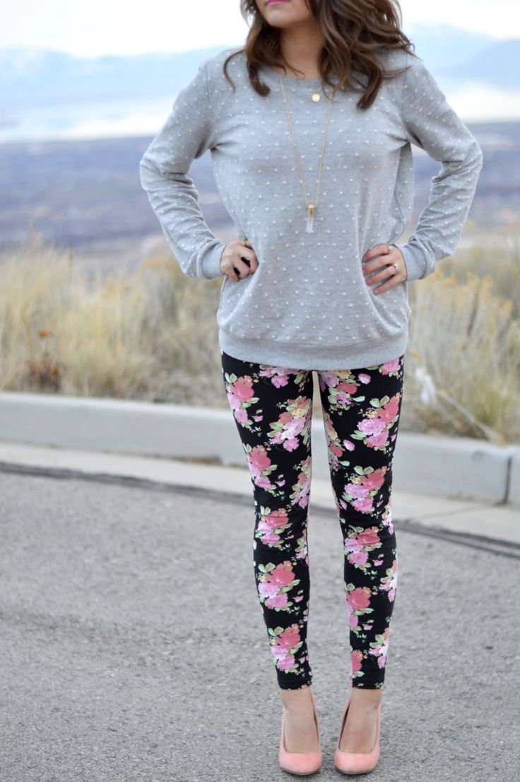 innovative outfits with patterned leggings fabric