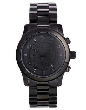 Michael Kors - MK8157 - Montre chronographe oversize - Noir
