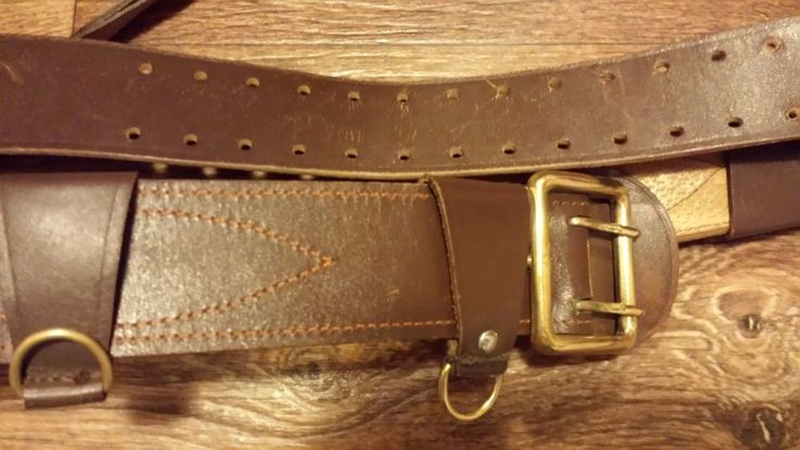 ORIGINAL 1990 Military Russian Army Soviet officer Uniform Leather Belt Red Gift