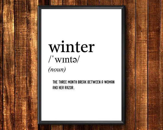 Definition Print  Winter Definition Print  Funny Definition