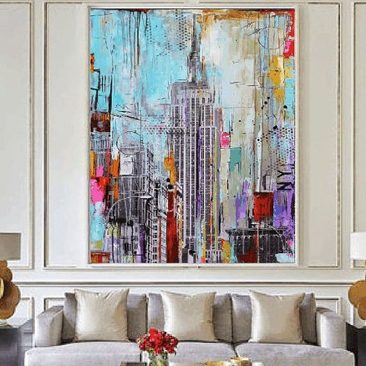 oil coloring painting by numbers on the wall pictures for living room frameless modern abstract decoration pictures on canvas