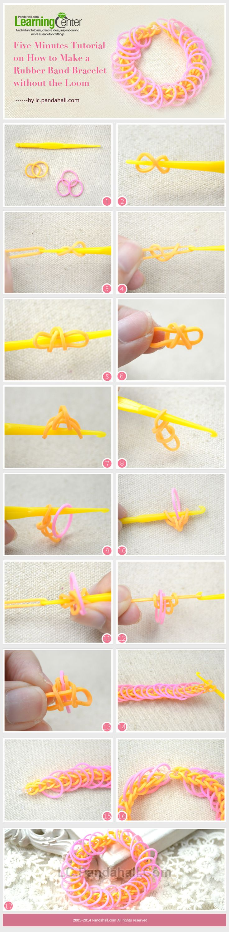 Five Minutes Tutorial on How to Make a Rubber Band Bracelet without the Loom