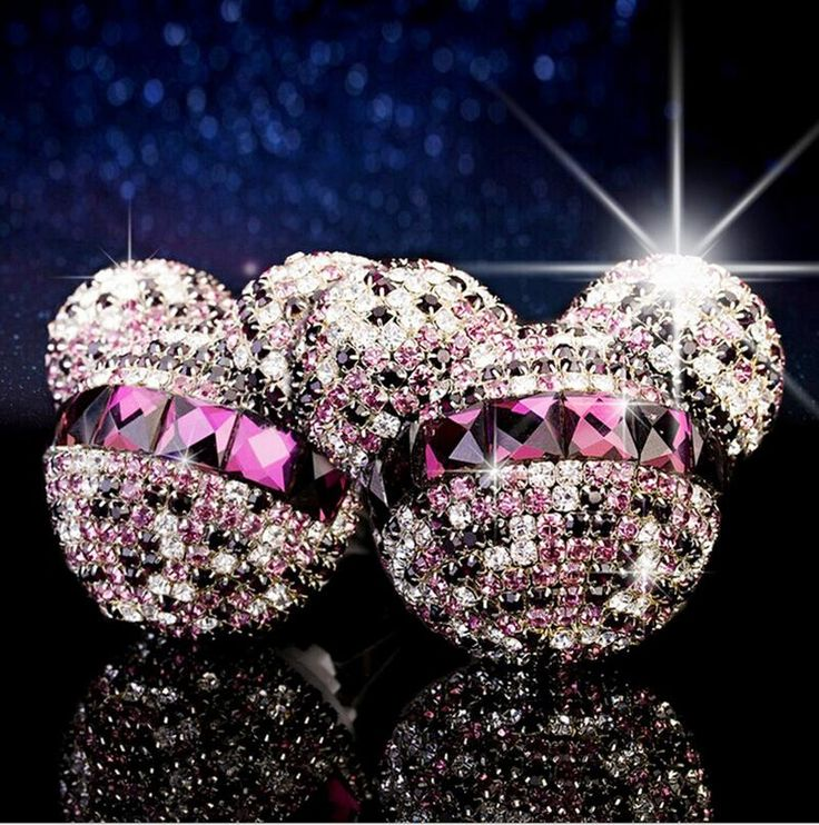 Car styling Mickey Minnie Crystal Diamond perfume original auto perfumes Air Freshener Car Air Conditioning Vent Clip