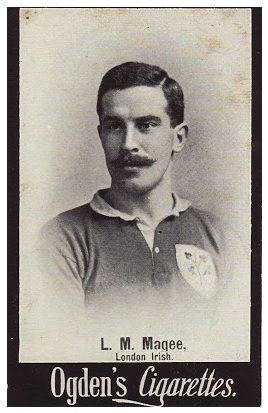 1902 Ogden's Cigarettes, British Lions international rugby players (L.M. Magee, London Irish)